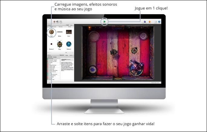como criar um app de jogo e game no GameSalad