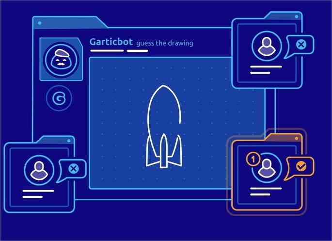 Imagem de divulgação do game GarticBot