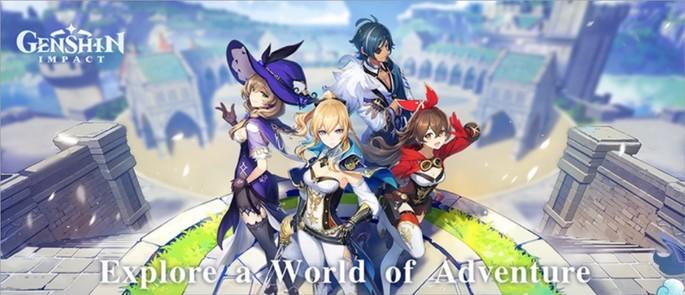 Imagem de divulgação do jogos de RPG Genshin Impact