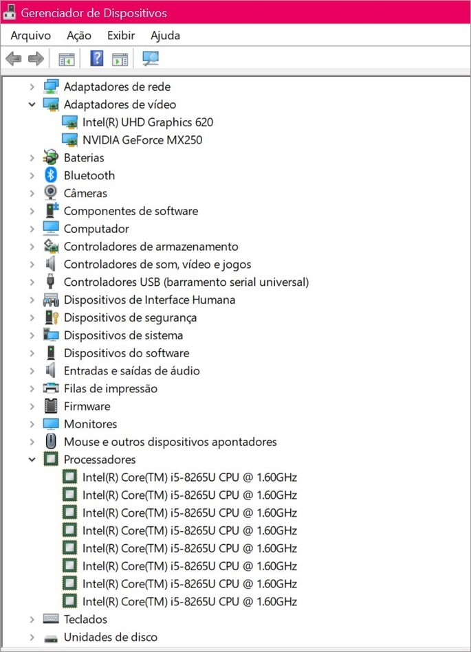 Gerenciador de dispositivos do Windows