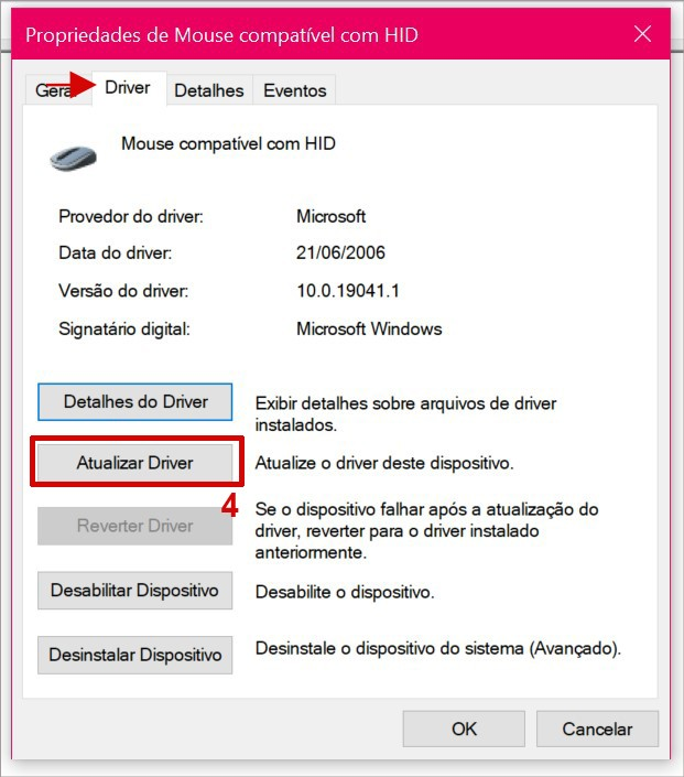 Atualizando o driver do touchpad no Windows