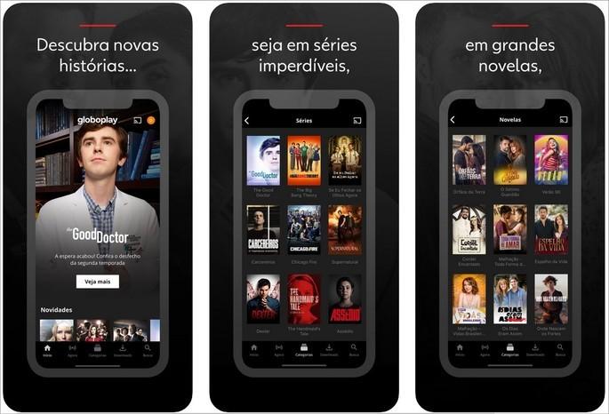 Imagem de divulgação do app Globoplay