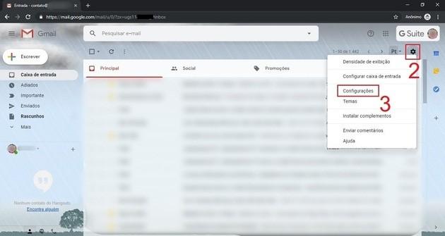 Como cancelar envio de email no Gmail