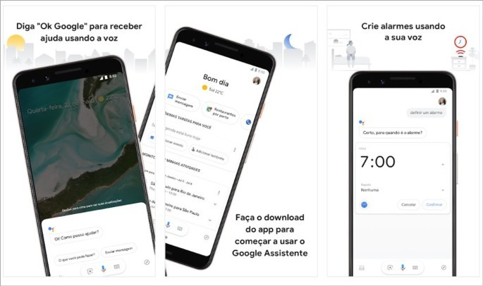 Imagem de divulgação do app Google Assistente para Android