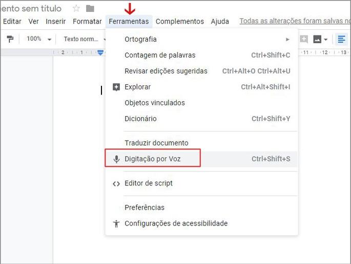 Transcrever audio em texto google drive