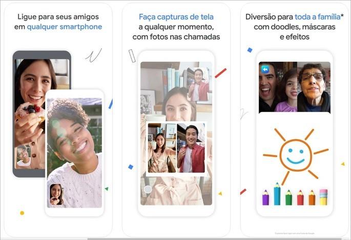 Imagem de divulgação do app de videochamada Google Duo
