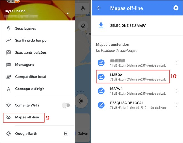 Salvar rotas no Google Maps