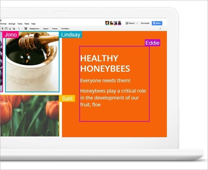 Imagem de divulgação do programa de slides Apresentações Google