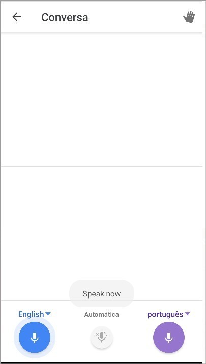 Recurso Conversa do Google Tradutor