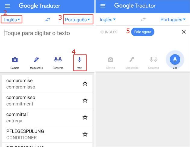 Traduzir com Google Tradutor por voz no celular