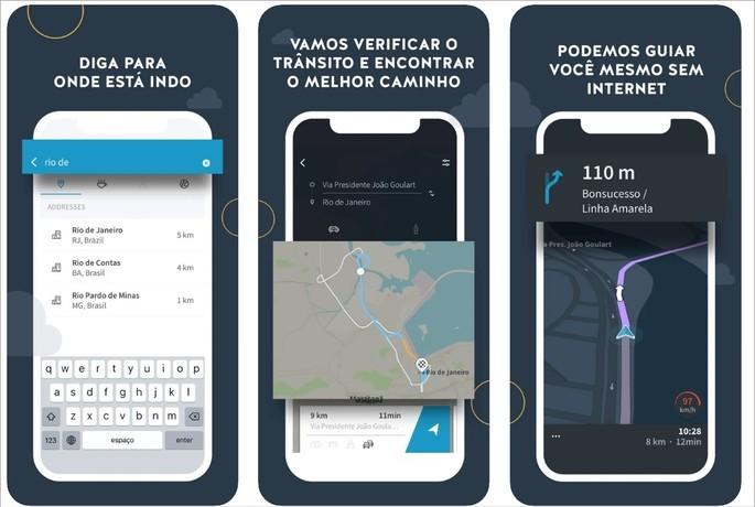 Imagem de divulgação do app GPS Brasil