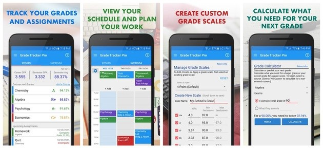 Organizar estudos com o Grade Tracker
