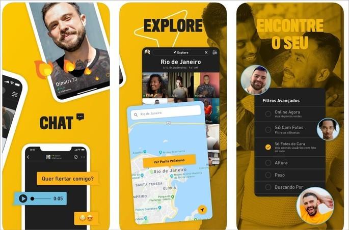Imagem de divulgação do app de relacionamento Grindr