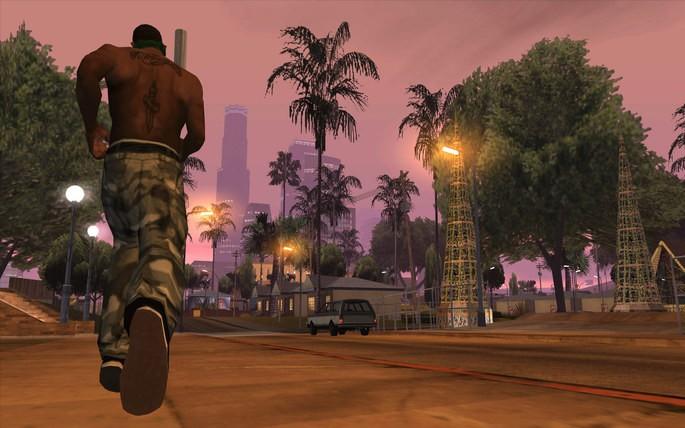 Imagem de divulgação do jogo de ação Grand Theft Auto: San Andreas