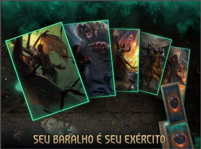 Imagem de divulgação do jogo de cartas GWENT: The Witcher Card Game