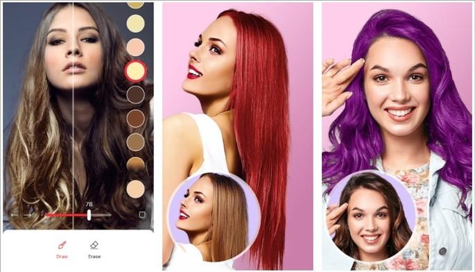 Imagem de divulgação do app Hair color changer