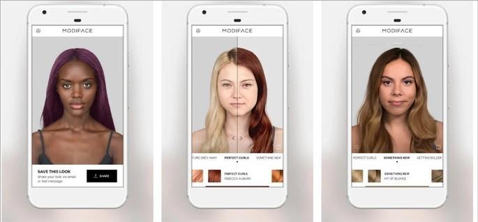 Imagem de divulgação do app Hair Color