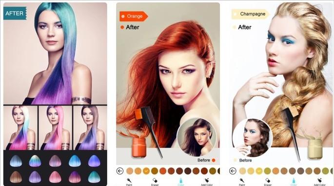 Imagem de divulgação do app Hair Color Dye