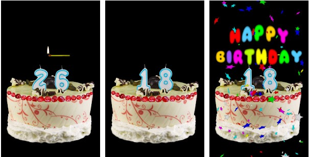 vela de aniversário happy birthday