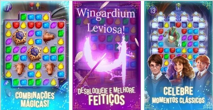 Imagem de divulgação do jogo de combinação de peças Harry Potter: Enigmas & Magia