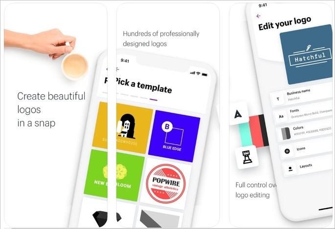 Imagem de divulgação do app de criação de logo Hatchful