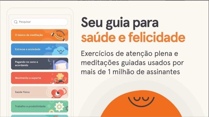 Imagem de divulgação do app de meditação Headspace