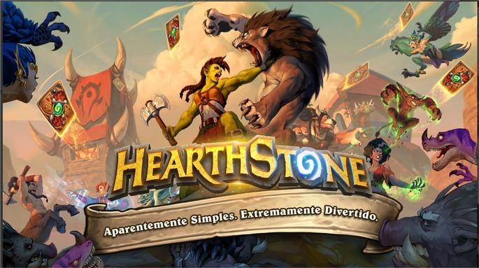 Imagem de divulgação do jogo de cartas Hearthstone: Heroes of Warcraft