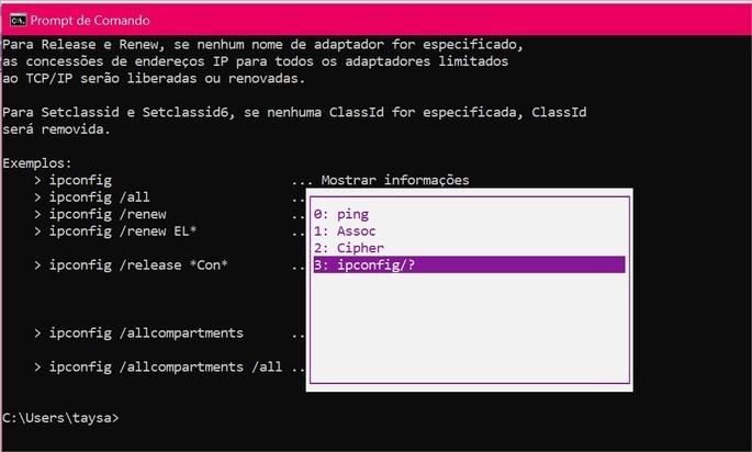 Ver histórico dos comandos no Prompt do Windows