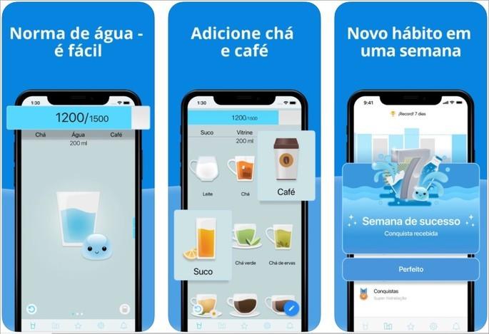 Imagem de divulgação do app Hora da Água