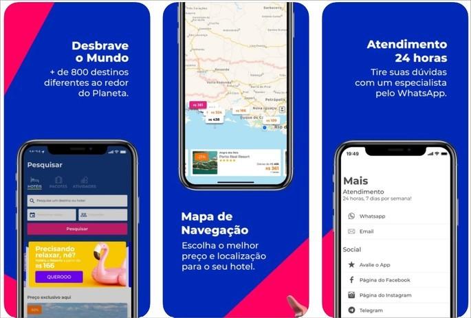 Imagem de divulgação do app de viagens Hurb