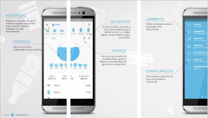 Imagem de divulgação do app Hydro