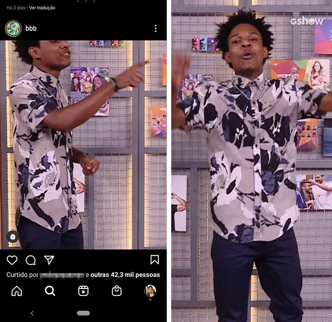 Vídeo do Reels no feed do Instagram e em tela cheia