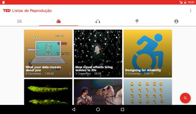 Aplicativos Chromecast TED