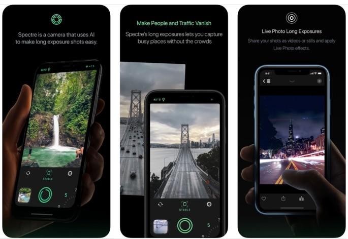 Melhores apps iphone spectre camera