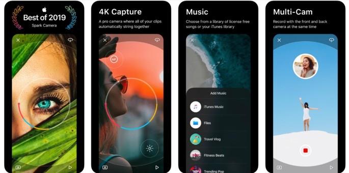 melhores aplicativos iphone spark camera