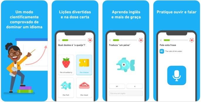 Aprender inglês com Duolingo