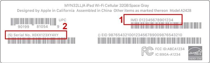 Como encontrar o IMEI e número de série na caixa do iPhone