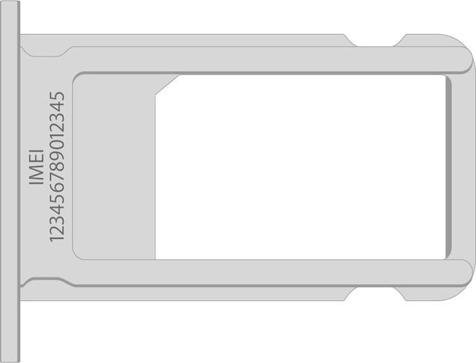 IMEI gravado no slot de SIM card o iPhone