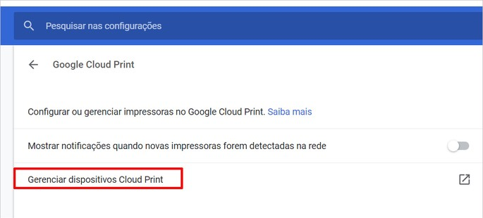 imprimir pelo celular google cloud print