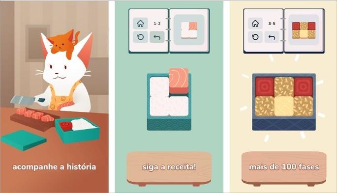 Imagens de divulgação do jogo de quebra-cabeças inbento