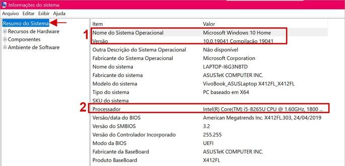 Como encontrar as Informaçoes do sistema no  Windows