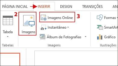 Captura de tela da opção Imagem do PowerPoint