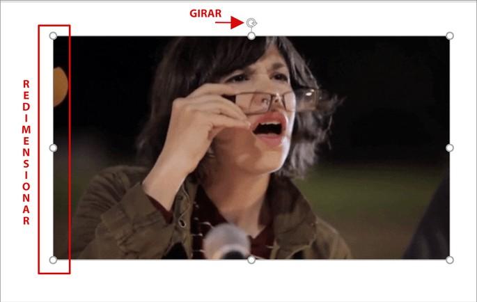 Alterando dimensões do GIF no PowerPoint