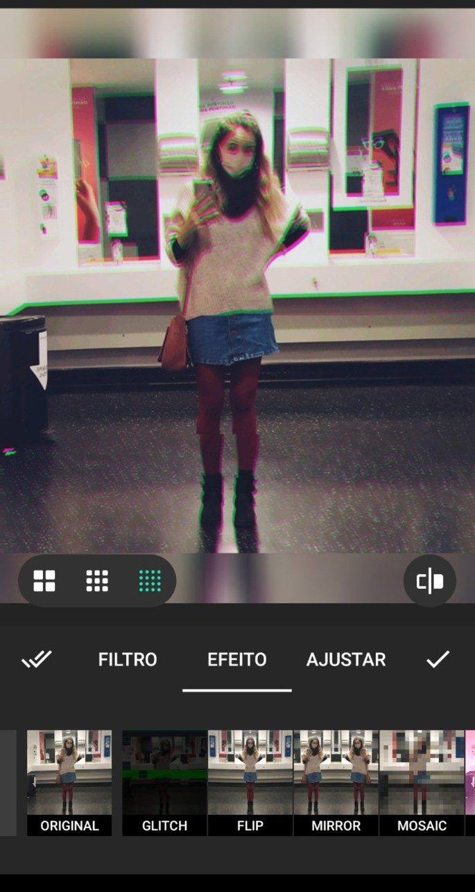 Filtros disponíveis no app de edição de vídeo InShot