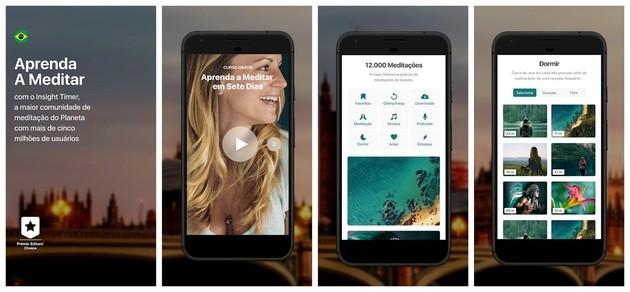 App de meditação e mindfulness Insight Timer