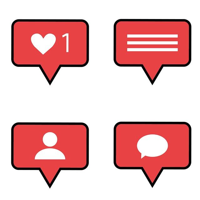 ilustração com ícones referentes a ações do Instagram