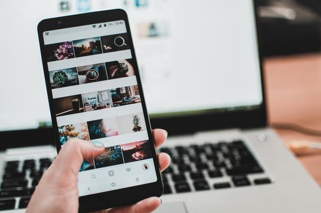 Instagram no celular e no computador