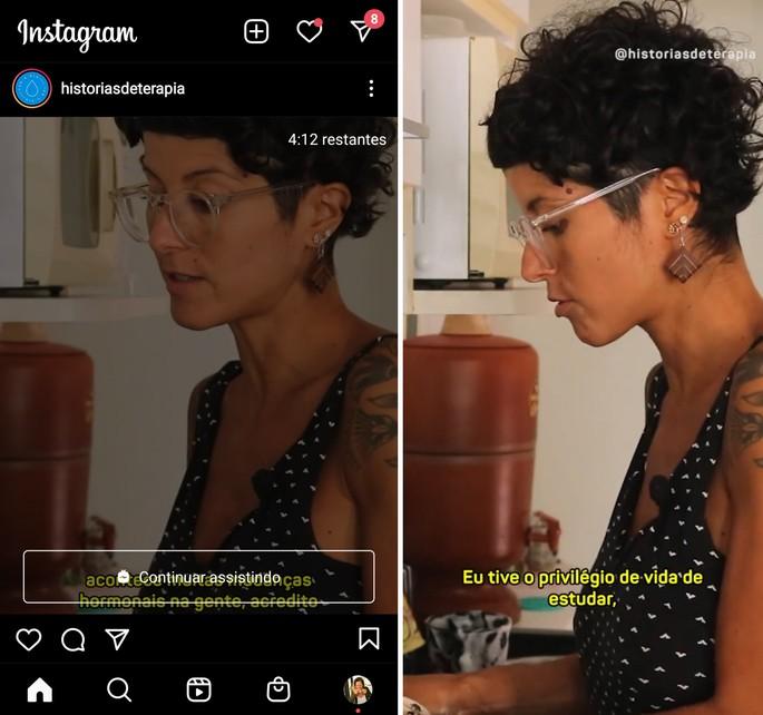 feed do Instagram no modo noturrno