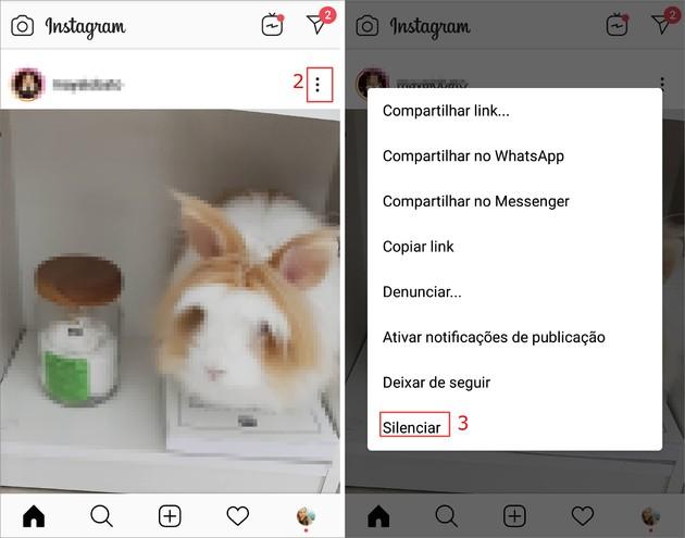 Silenciar contato no Instagram