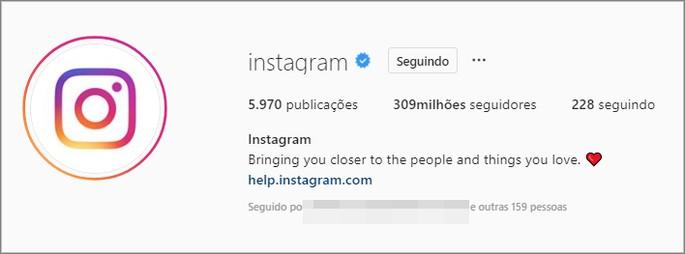 Verificar conta Instagram